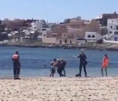 Tratan de ahogar a un policia en ibiza